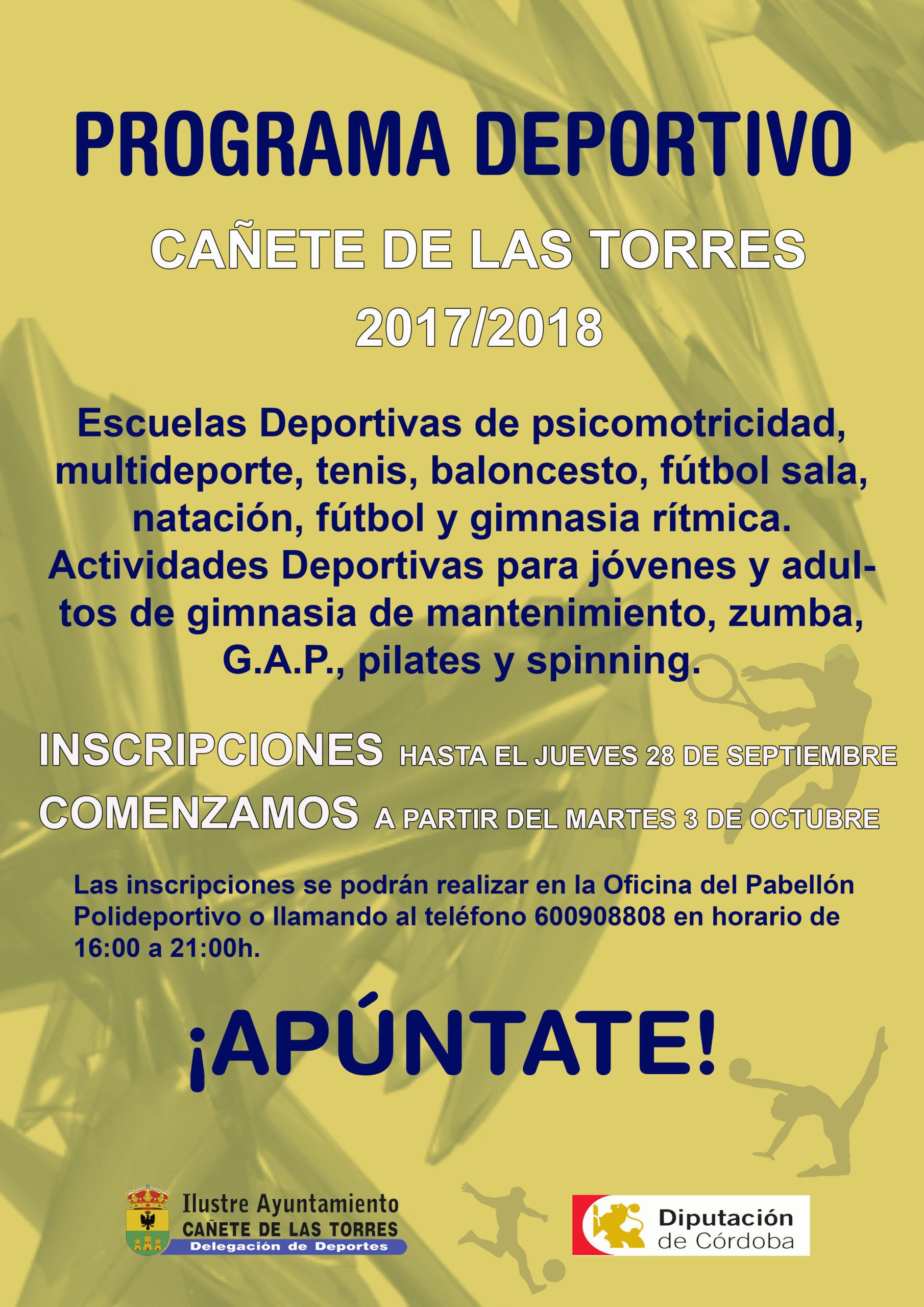Programa Deportivo 2017/18 Cañete de las Torres 1