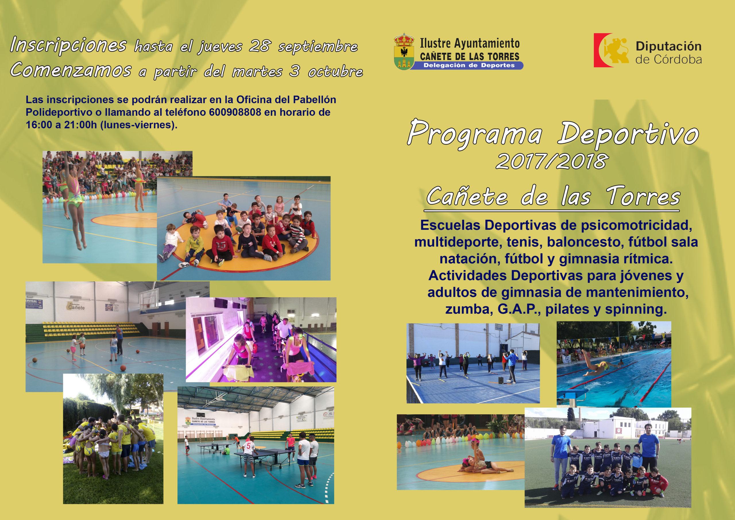 Programa Deportivo 2017/18 Cañete de las Torres 2