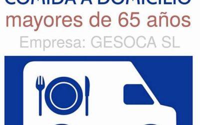 Nuevo servicio de comida a domicilio para mayores de 65