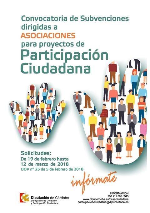Convocatoria de Subvenciones a Asociaciones  de Participación Ciudadana  1