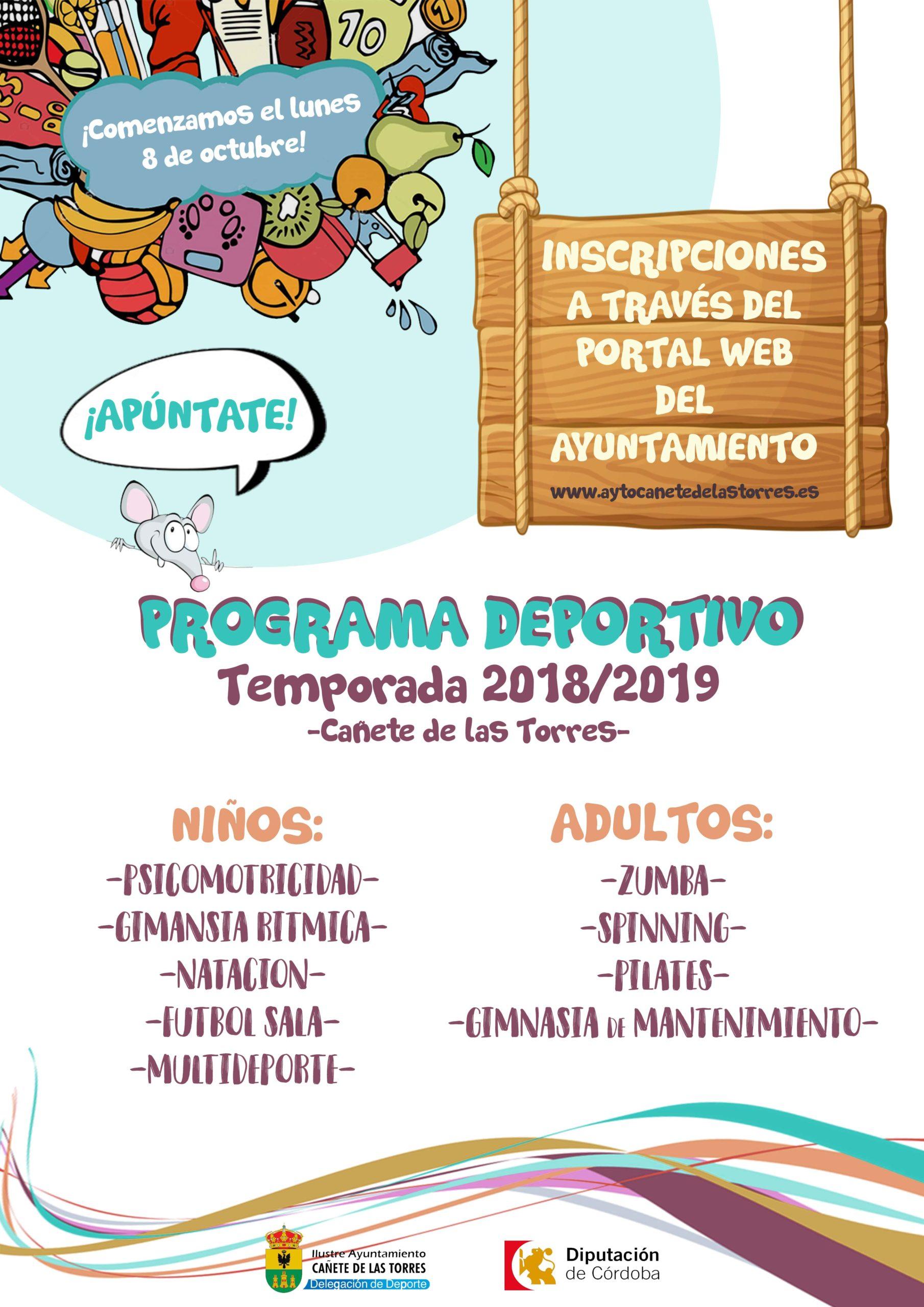 Programa deportivo temporada 2018/2019 1