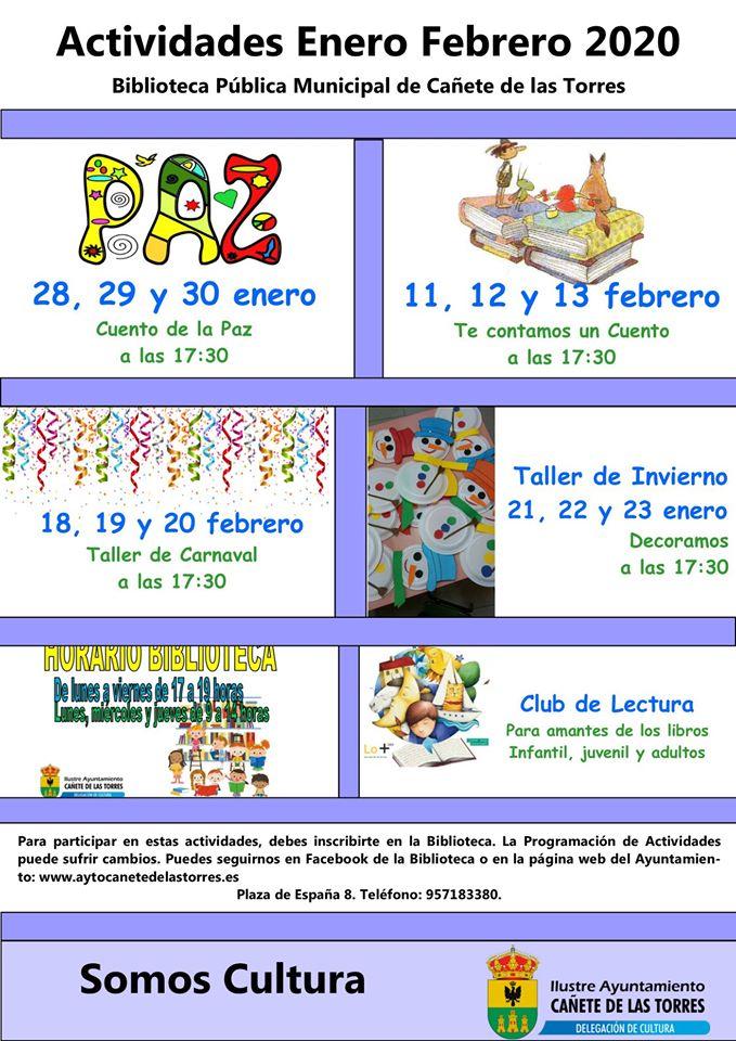 Actividades biblioteca pública meses de enero y febrero 2020 1