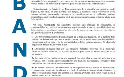 Bando  municipal sobre recomendaciones en vía pública