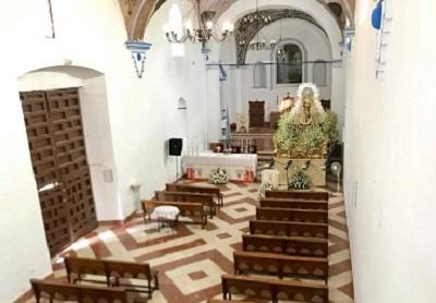 interior ermita madre de dios