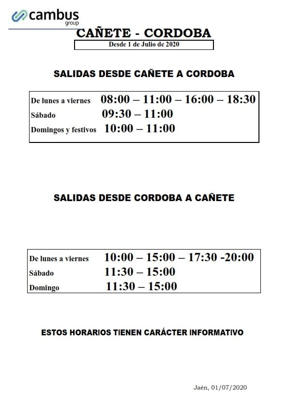horario autobuses desde julio