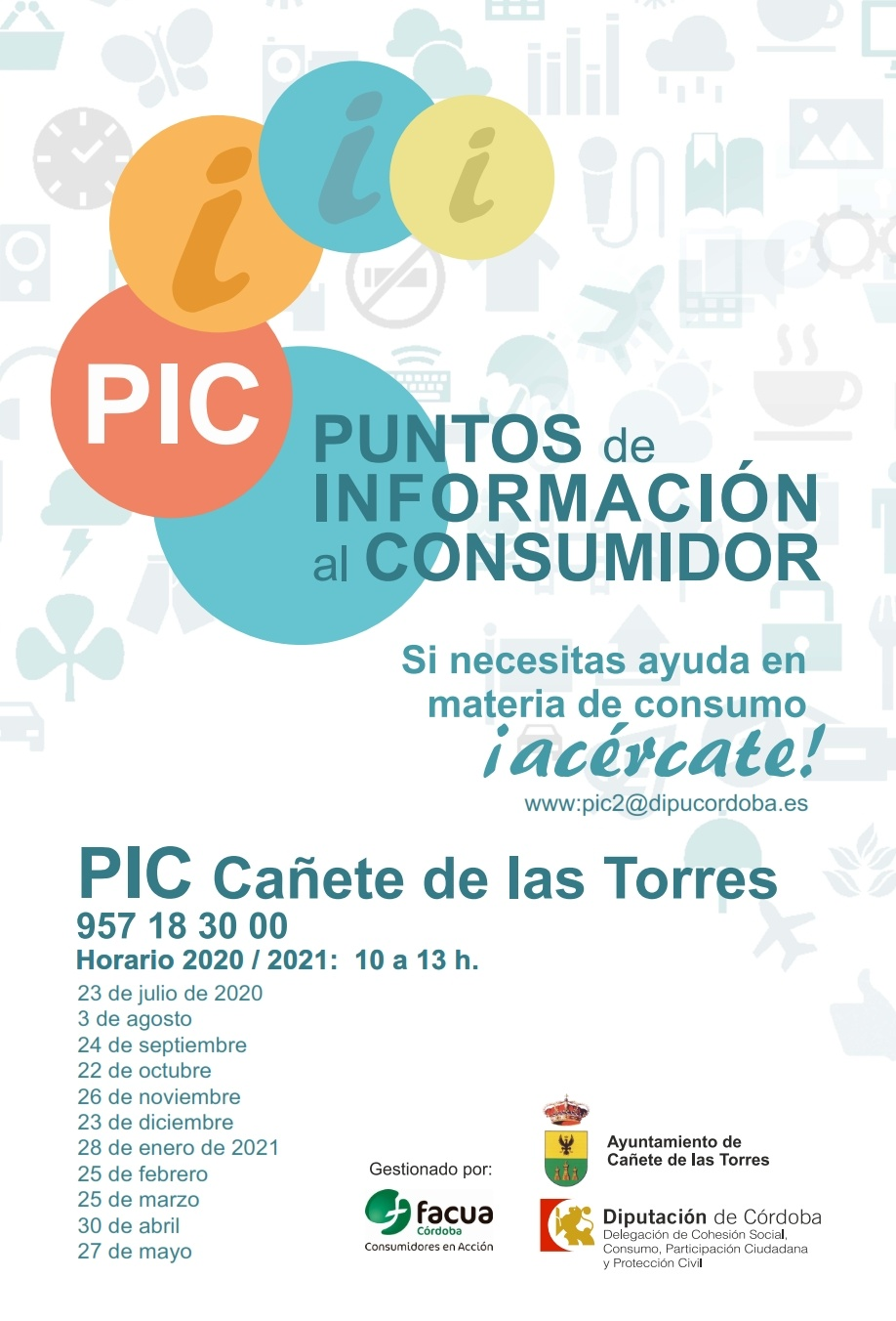 cartel fechas PIC 2020-2021
