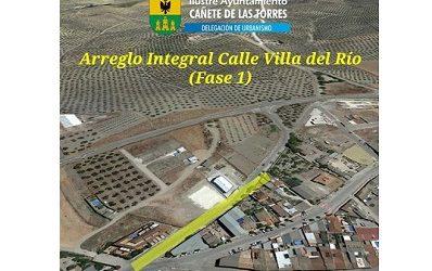 Próximas actuaciones urbanísticas en Cañete de las Torres, arreglo integral calle Villa del Río