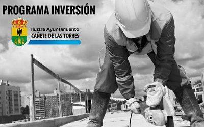 Actuaciones previstas en el Plan de Inversión #CañeteCovidFree