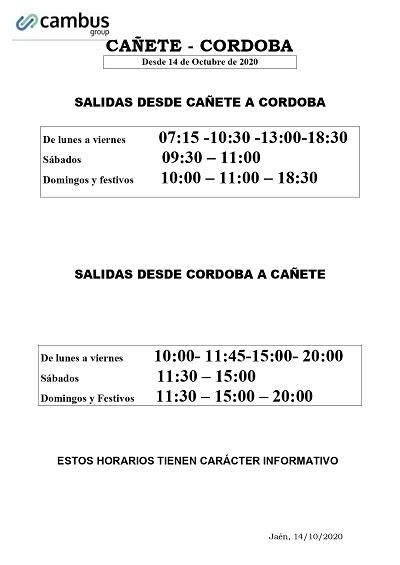 horario cambus desde 14 octubre