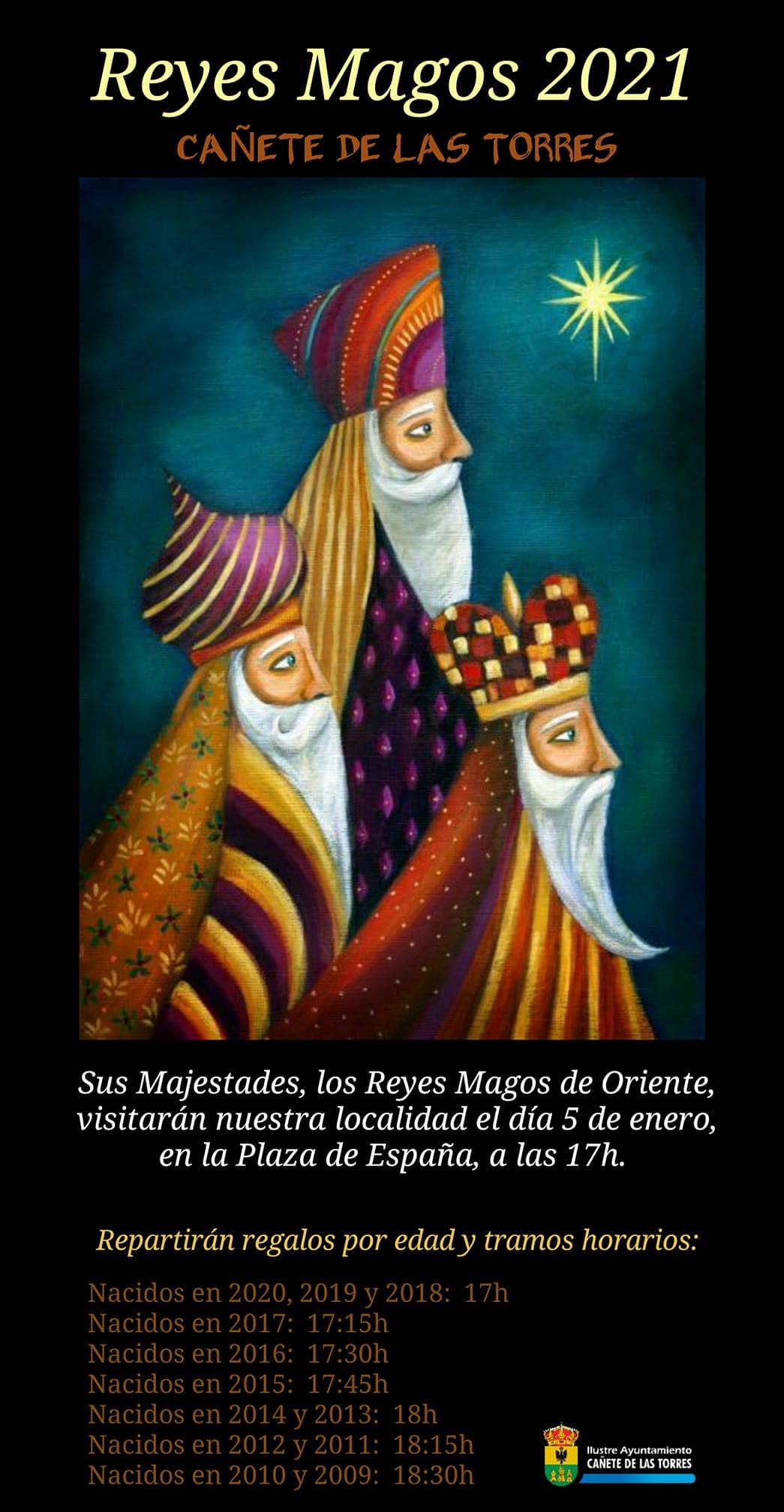 cartel reyes magos con horarios