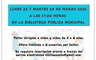 Taller de poesía infantil organizado por la biblioteca pública municipal