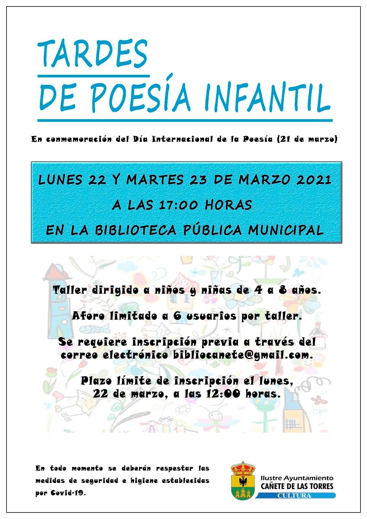 cartel taller de poesía infantil