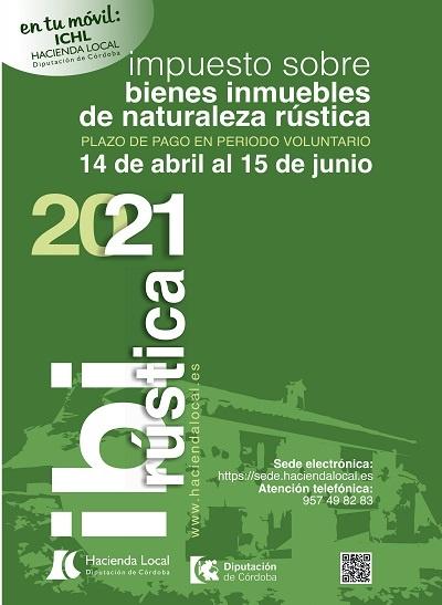 cartel cobro IBI Rústica 2021