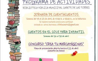 """Conmemoración """"Día del libro 2021"""" en Cañete de las Torres"""