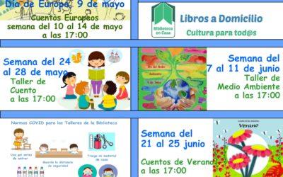 Programa de actividades mayo y junio 2021 de la biblioteca municipal de Cañete de las Torres