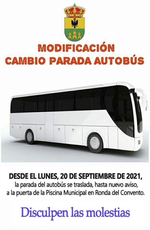 Cambio parada bus desde el 20 sept 21